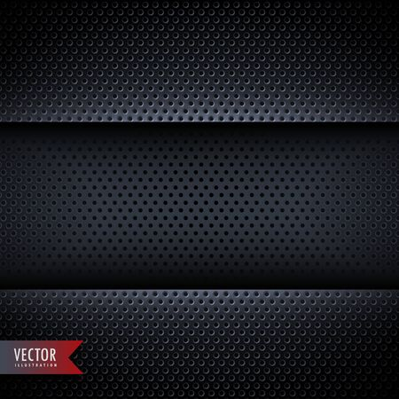 holes: carbon metal background with small holes Illustration