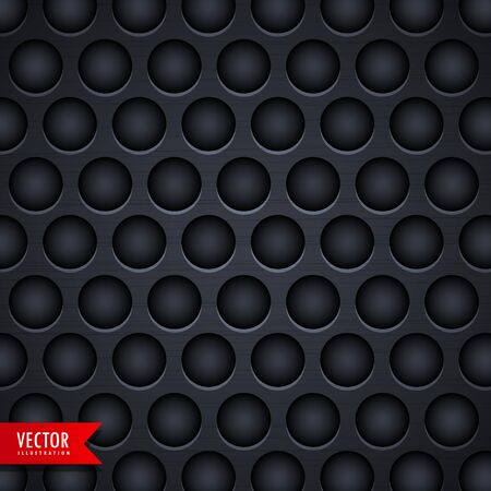 holes: dark metal texture background with holes Illustration
