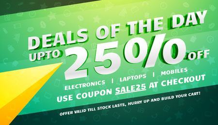 creative deals, discount, coupons and sale voucher design template Illustration