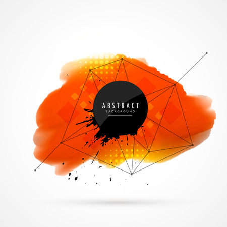 techology: orange watercolor background
