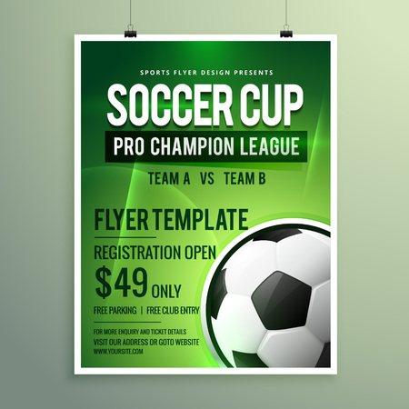 event: soccer league sports event flyer design