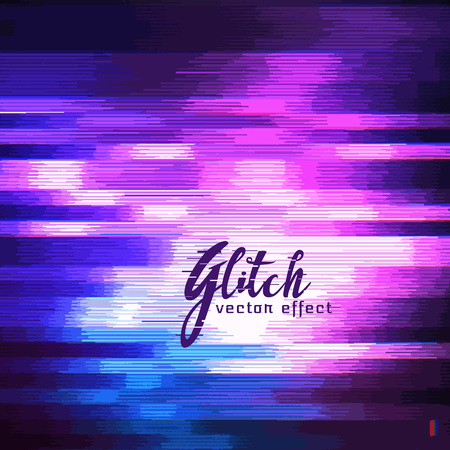 distort: glitch vector effect of image corruption
