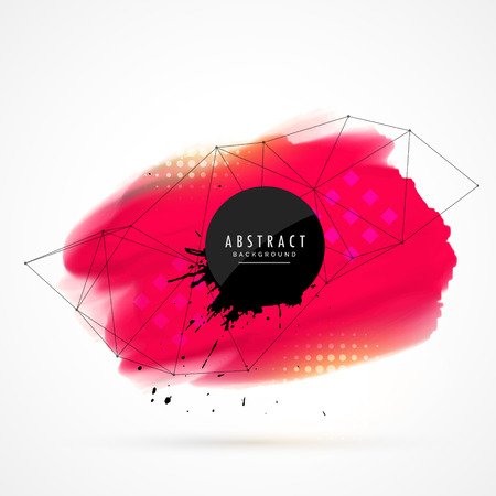 techology: red watercolor stain background Illustration