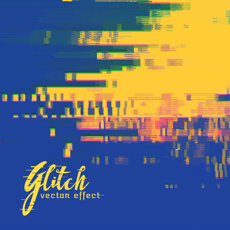 duotone: vector glitch signal error background in duotone colors