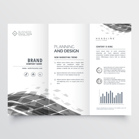 abstract trifold brochure design template