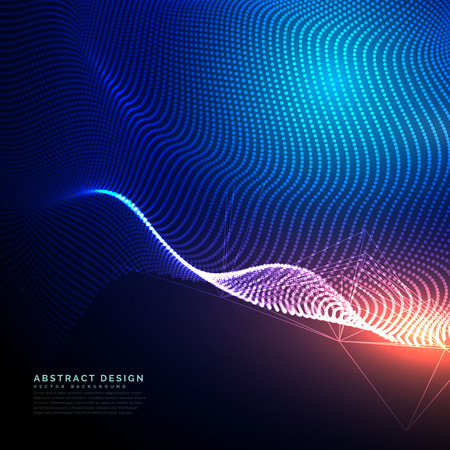 abstract technology background composed of dots mesh Vectores