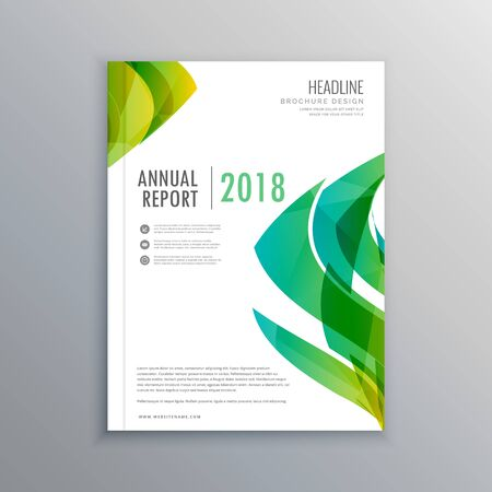 magazine template: stylish green magazine cover design template