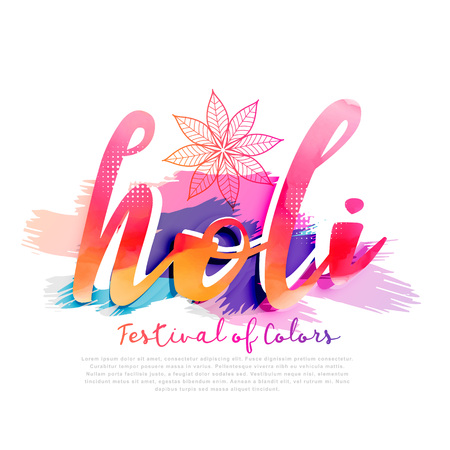 colorful background for happy holi festival Illustration