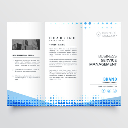 triptico: clean tri-fold brochure design with abstract blue effect