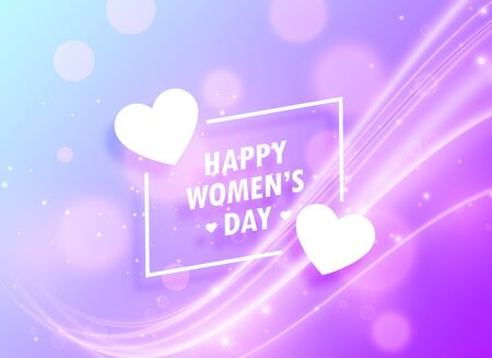 happy womans day greeting design background for march 8