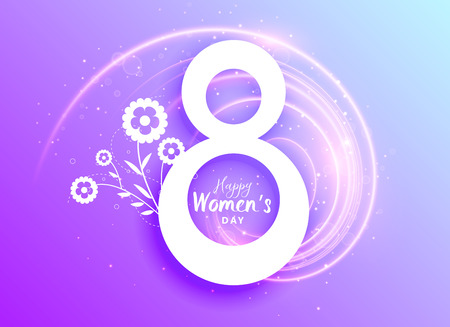 happy womans day celebration greeting with flower decoration