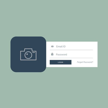 flat login form ui design in modern style