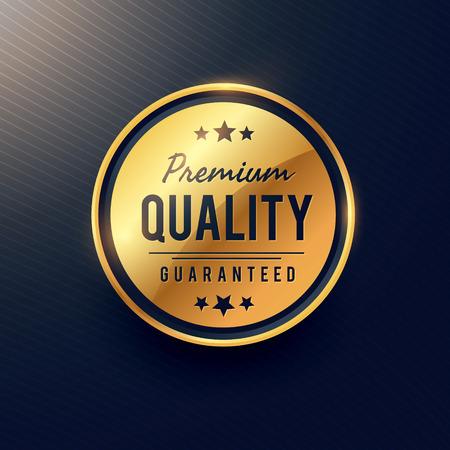 premium quality label and badge design in golden color Ilustrace