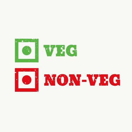 Veg and non-veg sign