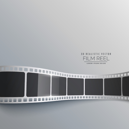 strip design: 3d film strip vector background design Illustration