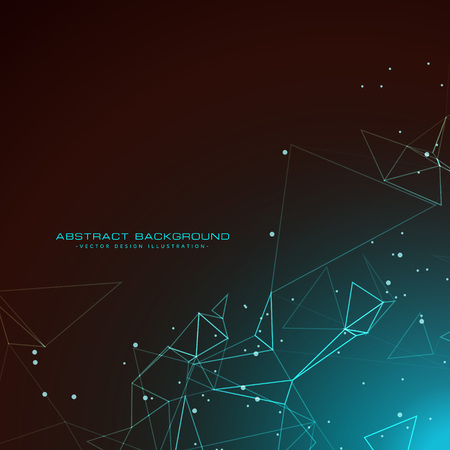 array: amazing technology background with digital wires mesh