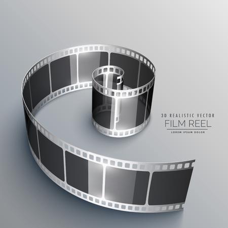 film strip in 3d style Stock Illustratie