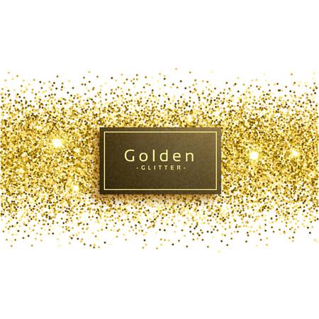 Goldene Glitter auf weißem Hintergrund Standard-Bild - 76567327