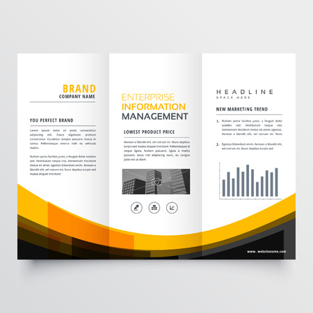 trifold business brochure  leaflet design template