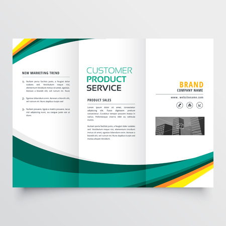 stylish modern trifold brochure design template