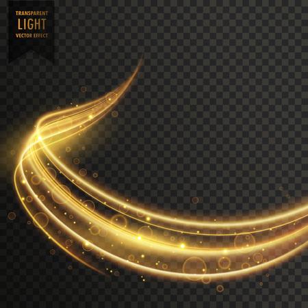 transparent golden light effect vector Illustration