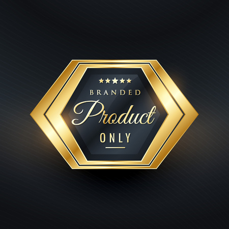 branded product: Branded product only golden badge vector design Illustration