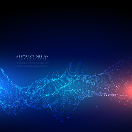 Flowing particles technology digital cyber background Vettoriali