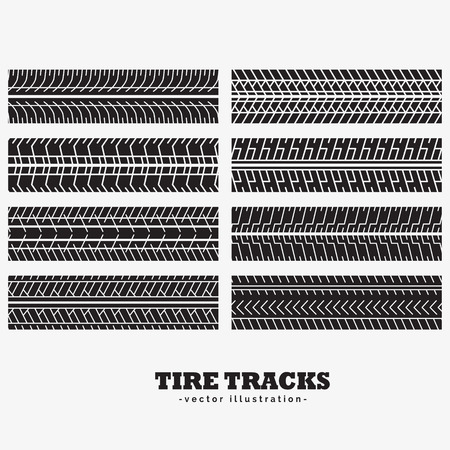 skid: collection of eight tire tracks marks