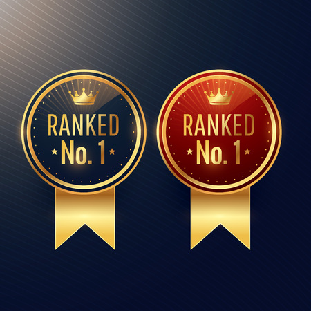 ranked no.1 labels set in two colors