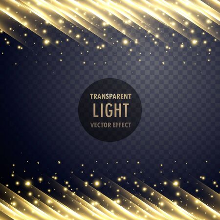 dazzle: transparent light effect with sparkling effect Illustration