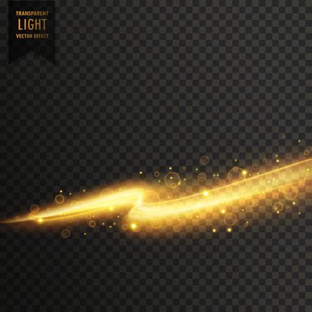 golden light streal transparent light effect background Иллюстрация