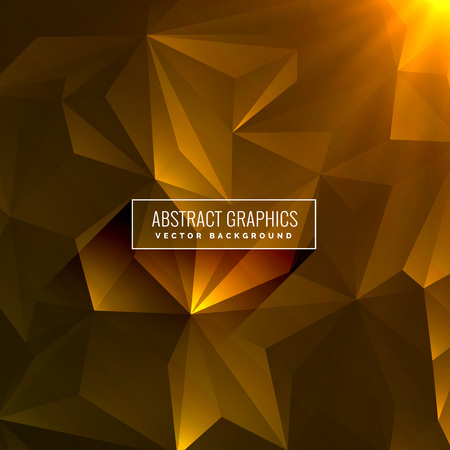 abstract dark yellow background made with triangle shapes Vektorové ilustrace