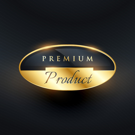 star award: premium product badge golden label design