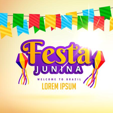 conception d'affiche festa junina vacances