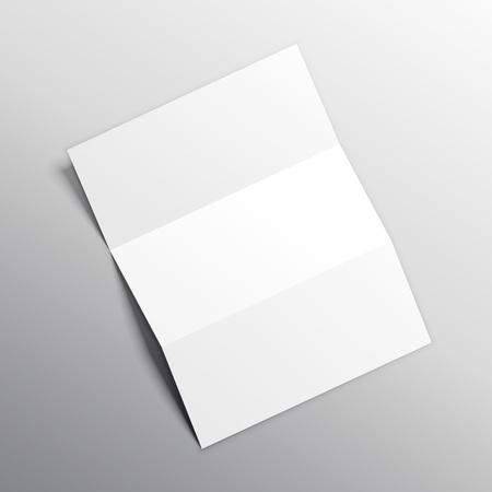 folded paper mockup vector design Banco de Imagens - 81229010