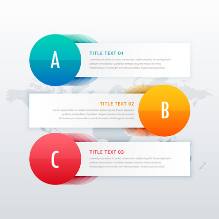 three steps clean infographic for business presentation