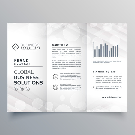 elegant white trifold brochure design for your business Illustration