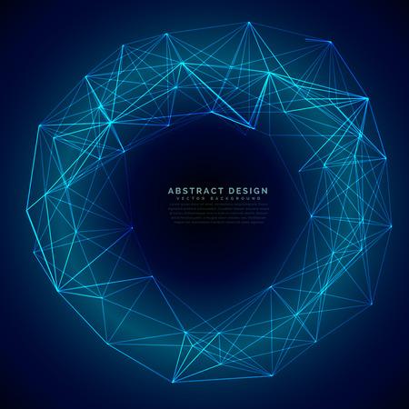 array: blue digital futuristic technology mesh background Illustration