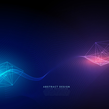 abstract technology background with light effect vector Vettoriali