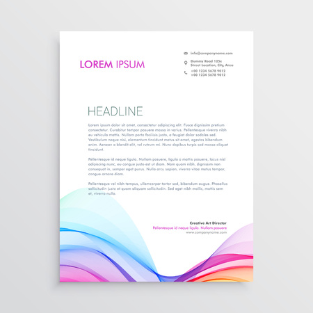 Colorful letterhead design template with wavy shape royalty free colorful letterhead design template with wavy shape stock vector 82167244 spiritdancerdesigns Image collections