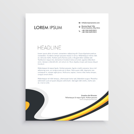clean modern business letterhead template design stock vector 82167262