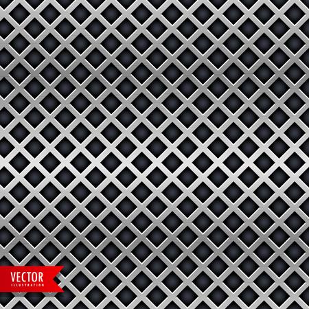 diamant vorm chroom metalen textuur achtergrond Stock Illustratie
