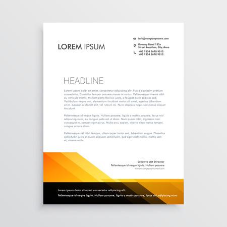 modern orange and black letterhead template design 向量圖像