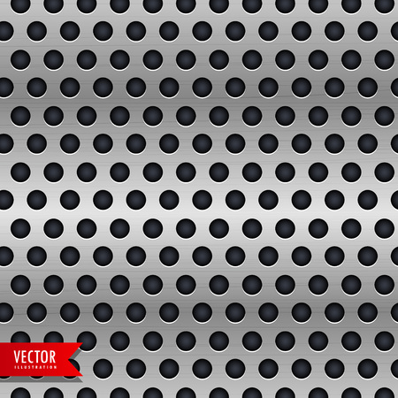 circle metal chrome texture vector background