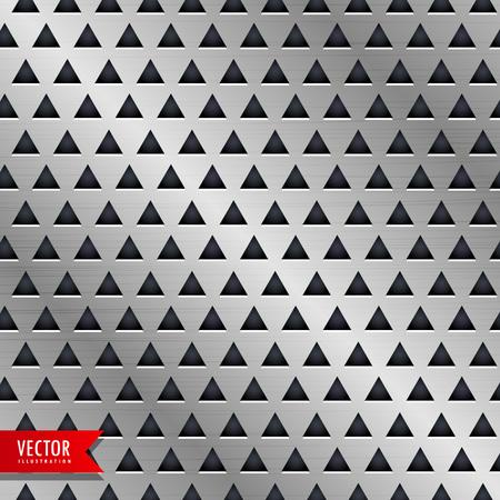 aluminium texture: metal triangle pattern vector background
