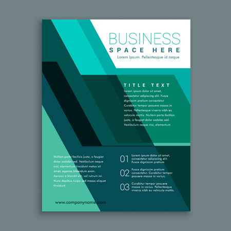 magazine design: geometric business brochure design in turquoise color