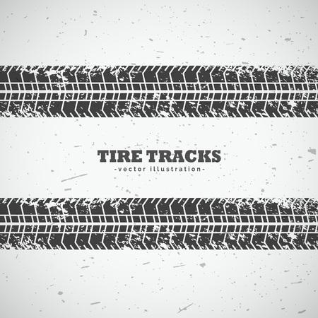 vector tire tracks background design