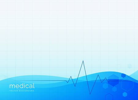 abstract medical clean vector background Illustration