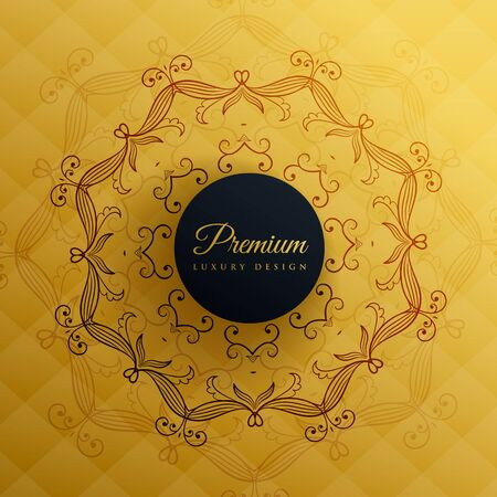 tantra: premium golden mandala decoration background