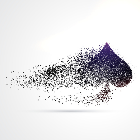 spade symbol design made with particles 向量圖像